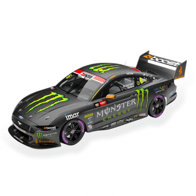 1:43 Monster Energy Racing No.6 Ford Mustang GT Supercar - 2020 Bathurst 1000 Pole Position