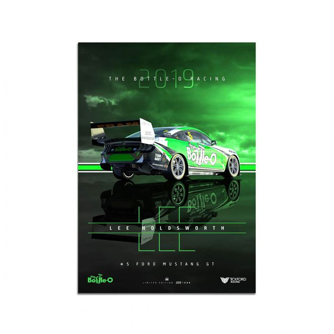2019 The Bottle-O Racing No.5 Ford Mustang Lee Holdsworth Print